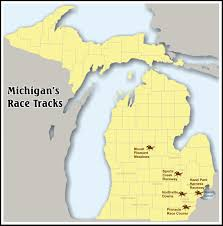 Warren Michigan Map by Mgcb Map Of Michigan Horse Racing Tracks