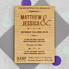 wood wedding invitations arrow wooden wedding invitation by