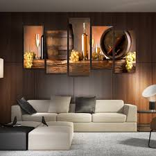 livingroom paintings aliexpress com buy hd printed 5 piece canvas art grape red wine