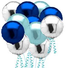balloons delivered 15 silver blue and light blue helium balloons balloons co uk