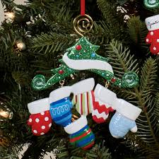 kurt adler mitten family personalized christmas ornament