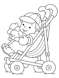printable baby coloring pages baby pictures