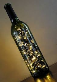 DIY Lamp from Wine Bottles – creative decorating ideas