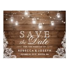 rustic save the dates save the date postcards