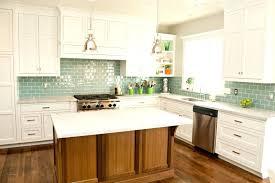 glass tile backsplash with white cabinets kitchen ideas white