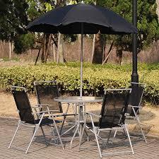 pavilion patio furniture outsunny 6pc outdoor patio umbrella set garden bistro yard