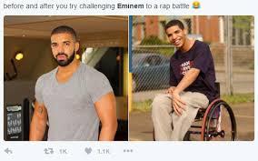 Rap Battle Meme - drake half challenges eminem to rap battle internet fully reacts