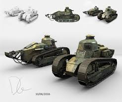 french renault tank daniel green student 3d renault ft 17 french light tank
