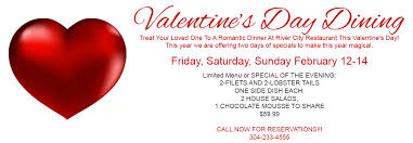 valentines specials s day specials river city restaurant banquets