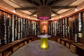 wooden interior interior unique home wine cellar designs with curved wine bottle