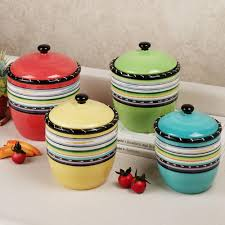 Pottery Kitchen Canisters Finding Best Kitchen Canister Setshome Design Styling