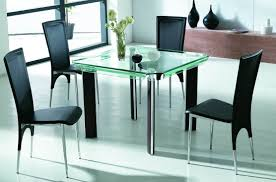 glass dining room table set square glass dining table home design ideas
