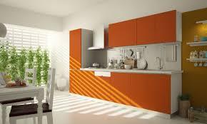 small straight kitchen design