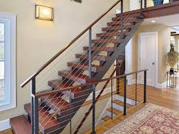 stair case floating staircase and cable railing katonah ny