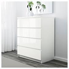 Wohnzimmerschrank Osnabr K Malm Kommode Mit 4 Schubladen Weiß Ikea