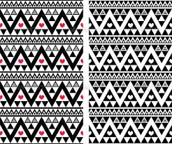 tribal aztec seamless pattern with aztec aztec background