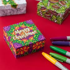 diy christmas gift boxes 6 pack printable paper gift box templates