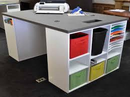 counter height desk with storage scrapbook desk storage 2 drawr file storage light blue wooden desk
