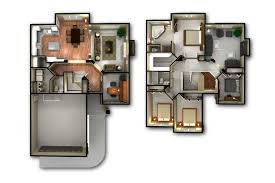 2 home plans 2 3d floor plan and house plans also trends images