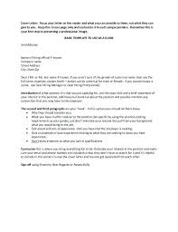 cover letter basics download sample cover letter monster cover