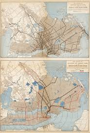 Historical Maps Historical Maps Surface Trolley Lines And Transit Maps