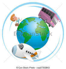traveling around the world images Illustration of traveler airplane and bus traveling around the world jpg