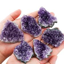 Geode Ring Box Amazon Com Rockcloud Natural Purple Amethyst Quartz Crystal