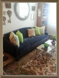 Tufted Sofa Sleeper by Novagratz Tufted Sofa In Navy With Wall Hale Navy By Benjamin