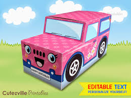 jeep cupcake cake cutezville printables printable jeep truck cupcake gift box