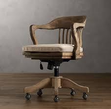 vintage wood office chair cushion cushions restoration
