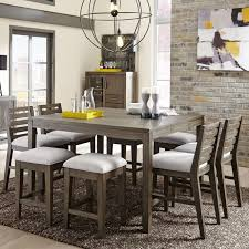 counter height dining room table belfort select district 9 piece counter height dining set belfort