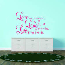 Live Love Laugh Home Decor Aliexpress Com Buy Inspirational Quotes Love Every Moment Laugh