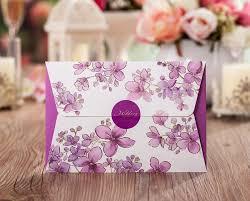 Purple Wedding Invitations Purple Wedding Invitations Flower Shape Folded European And