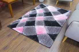 Shaggy Grey Rug Supreme Shaggy Rug Grey Pink 4032