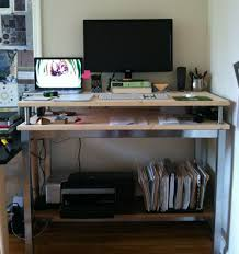 Ikea Standing Desk Galant Four Steps To Make My Ikea Hack Standing Desk Unruled