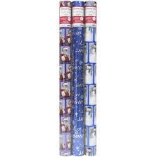 blue foil wrapping paper 3pk 100sf blue wrap walmart