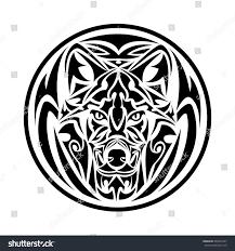 wolf tribal tattoo stock vector 403957627 shutterstock