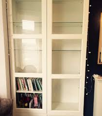 Ikea Besta Bookshelf Ikea Besta White Display Cabinet Bookshelf With Glass Doors In