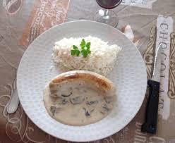 cuisiner boudin blanc boudin blanc à la crème et aux chignons recette de boudin blanc