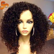 why is my hair curly in front and straight in back 8a mogolian kinky curly full lace human hair wigs for black women