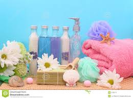 bath and shower products stock image image 2190171