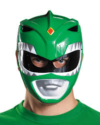 adults mighty morphin power rangers green vacuform mask costume