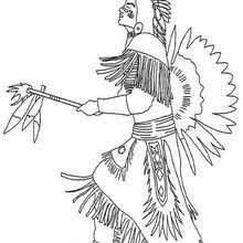 indian chief portrait coloring pages hellokids