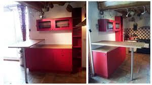 cuisine snack une cuisine modernisée grâce à un ensemble de meubles sur mesure par