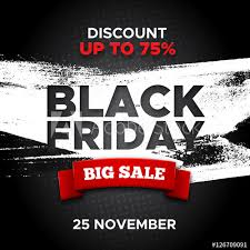 adobe black friday sale black friday promo vector background with red ribbon and white