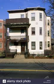 triple decker multi family house dorchester neighborhood of