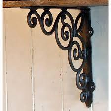 decorative cast metal wall shelf bracket