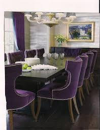 Purple Velvet Chairs Create Drama Purple Velvet Dark Purple And - Purple dining room