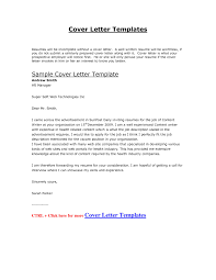 resume cover letter template download