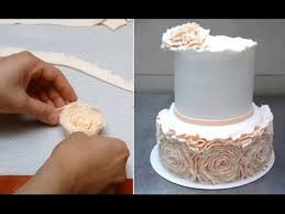 cake how to simple ruffle wedding cake how to by cakesstepbystep